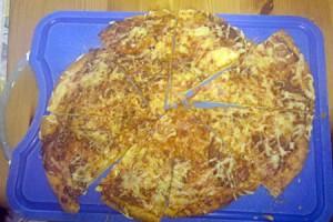 Pizza zum Abendessen